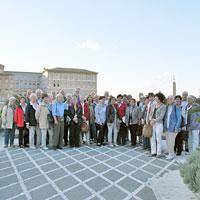 Auf der Terrasse der Residenza Paolo VI