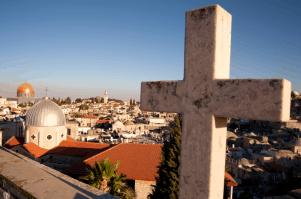 Israel_Jerusalem Altstadt mit Kreuz