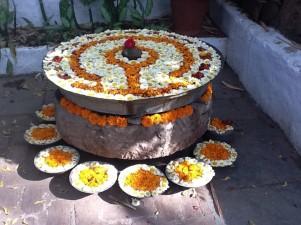 Blütenschmuck Südindien