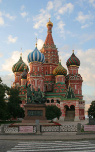 Moskau Basil-cathedral-morning